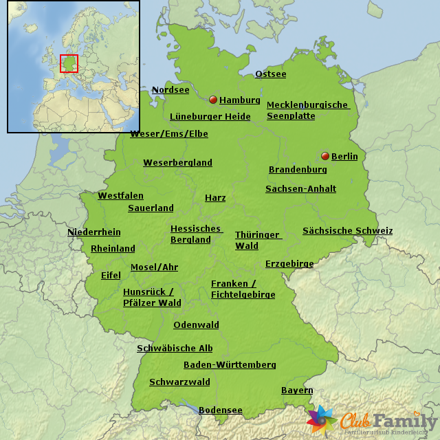 deutschland bersicht von clubfamily landkarte f r deutschland. Black Bedroom Furniture Sets. Home Design Ideas