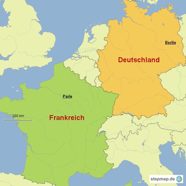 Deutschland Frankreich Karte.Stepmap Deutschland Und Frankreich Landkarte Für Deutschland