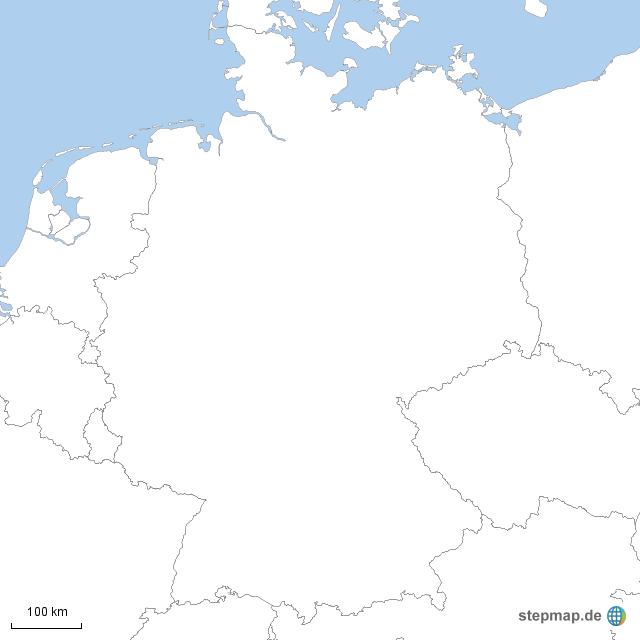 nachbarländer deutschland karte ausfüllen StepMap   Deutschland und seine NACHBARLÄNDER   Landkarte für
