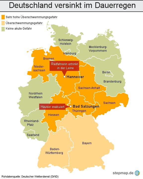 Dauerregen Deutschland