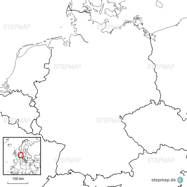 deutschland karte blanko StepMap   Deutschlandkarte Blanko   Landkarte für Deutschland