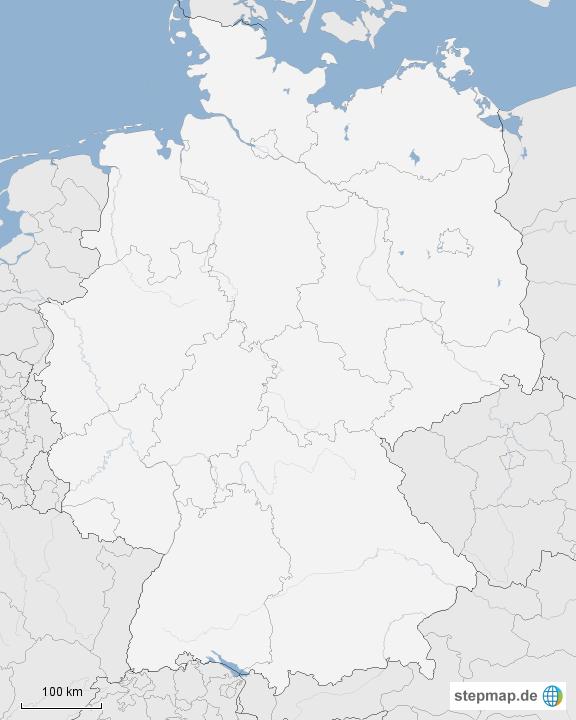 deutschlandkarte blanko StepMap   Deutschlandkarte blanko   Landkarte für Deutschland deutschlandkarte blanko