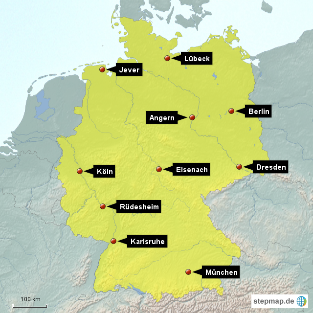 deutschlandkarte zum markieren StepMap   Deutschlandkarte_10   Landkarte für Deutschland