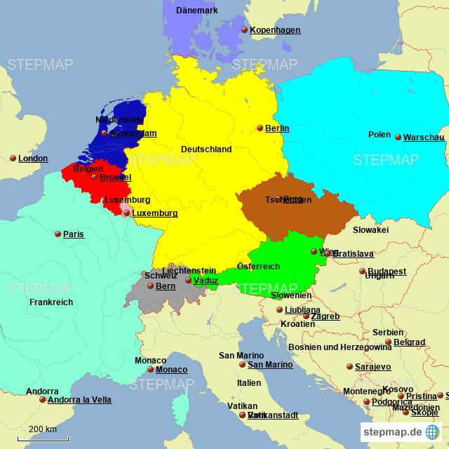 Landkarte Dänemark Deutschland