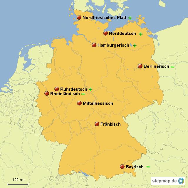 Berühmt StepMap - Dialekte in Deutschland - Landkarte für Deutschland &TS_63