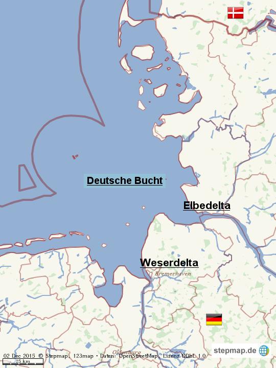deutsche bucht karte StepMap   Die Deutsche Bucht   Landkarte für Welt