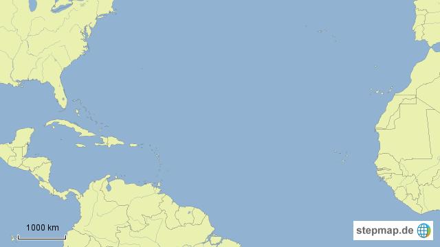 StepMap - Die Routen von Christoph Kolumbus - Landkarte für ...