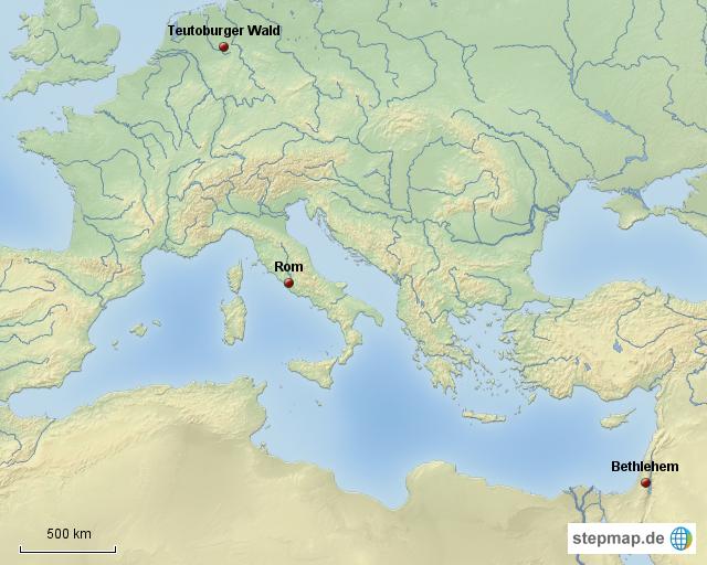 Varusschlacht Karte.Stepmap Die Varusschlacht Landkarte Fur Deutschland