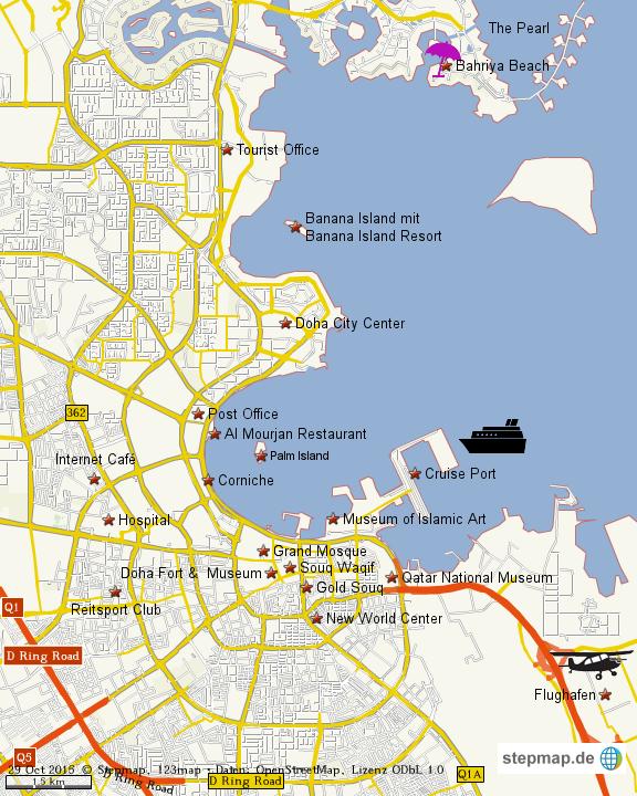Doha Karte Welt.Stepmap Doha Landkarte Fur Welt