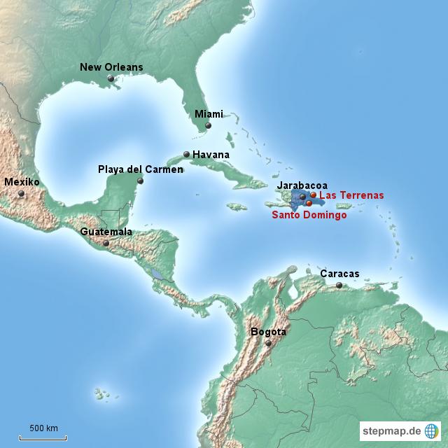 Stepmap Dominikanische Republik Landkarte Für Dominikanische