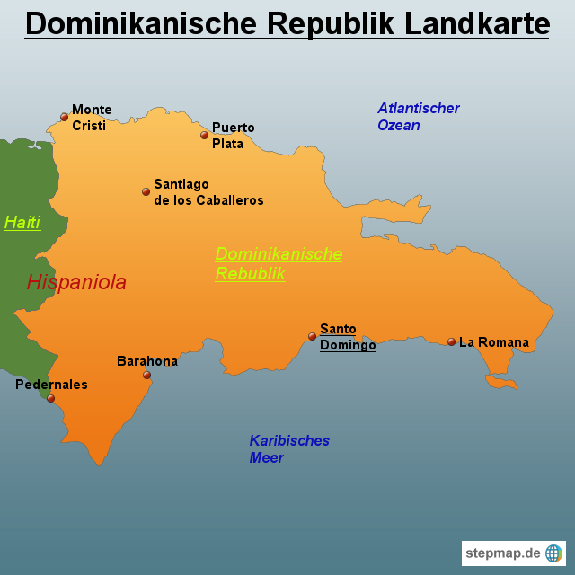 Stepmap Dominikanische Republik Landkarte Landkarte Für