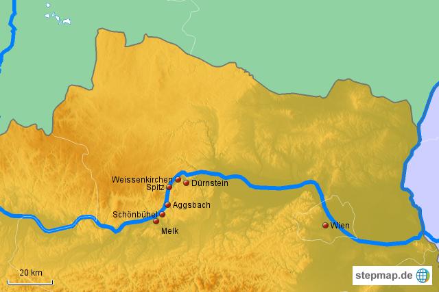 Wachau Karte Donau.Stepmap Donau Region Wachau Landkarte Für österreich