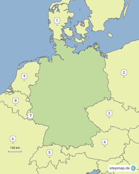 dtl nachbarl nder von wondi landkarte f r deutschland. Black Bedroom Furniture Sets. Home Design Ideas