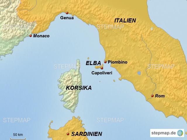 Elba Karte.Stepmap Elba Landkarte Für Deutschland
