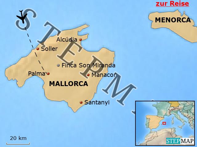 Mallorca Karte Alcudia.Stepmap Esg22 Finca Son Miranda Mallorca Landkarte Für Spanien