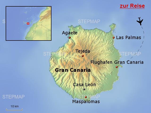 Gran Canaria Karte Flughafen.Stepmap Esh25 Casa Leon Gran Canaria Landkarte Für Spanien