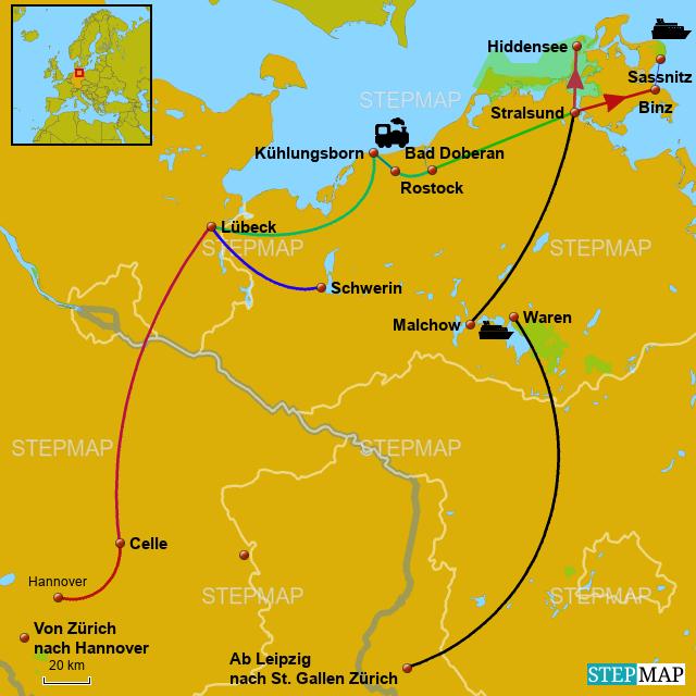 Ostsee Karte Rügen.Stepmap Eurobus Ostsee Rügen Landkarte Für Deutschland