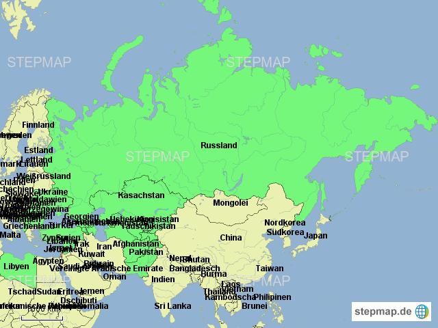 StepMap - Eastern Europe Central Asia - Landkarte für Europa on
