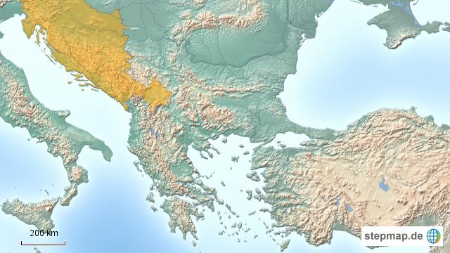 Alte Jugoslawien Karte.Stepmap Ehem Jugoslawien Mazedonien Landkarte Fur