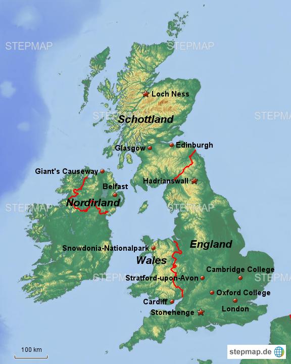 Sehenswürdigkeiten Großbritannien Karte.Stepmap Einige Sehenswürdigkeiten In Großbritannien Landkarte