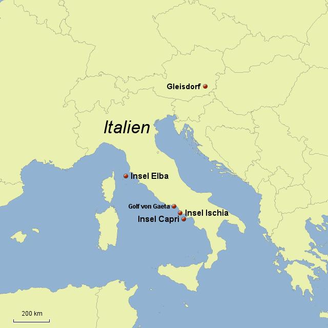 Stepmap Elba Ischia Capri Landkarte Fur Italien