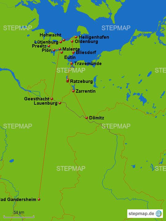 Holsteinische Schweiz Karte.Stepmap Elbtalaue Und Holsteinische Schweiz Landkarte