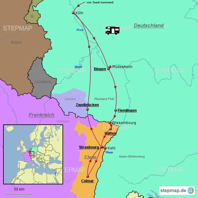 Elsass Karte Frankreich.Stepmap Elsass Landkarte Fur Frankreich