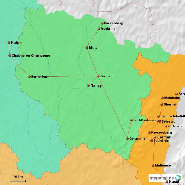 Lothringen Karte.Stepmap Elsass Lothringen Landkarte Fur Frankreich