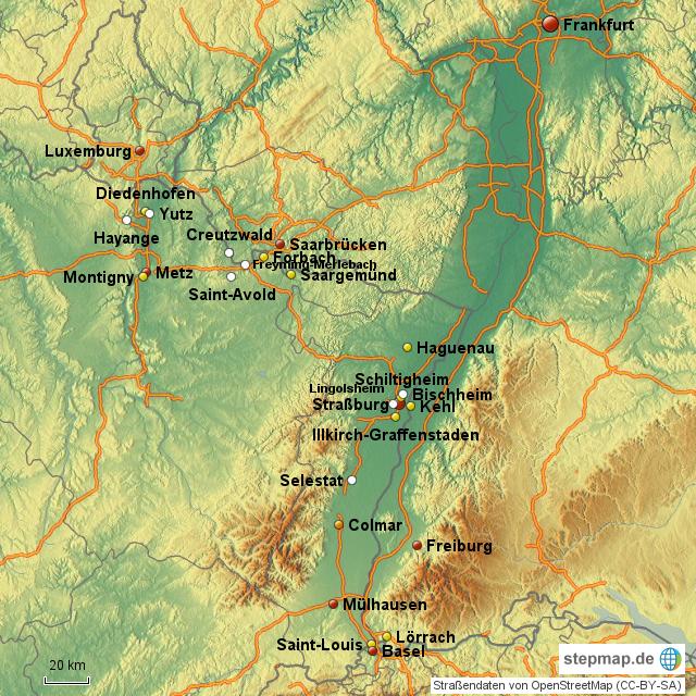 Elsass Auf Karte.Stepmap Elsass Lothringen Landkarte Fur Deutschland
