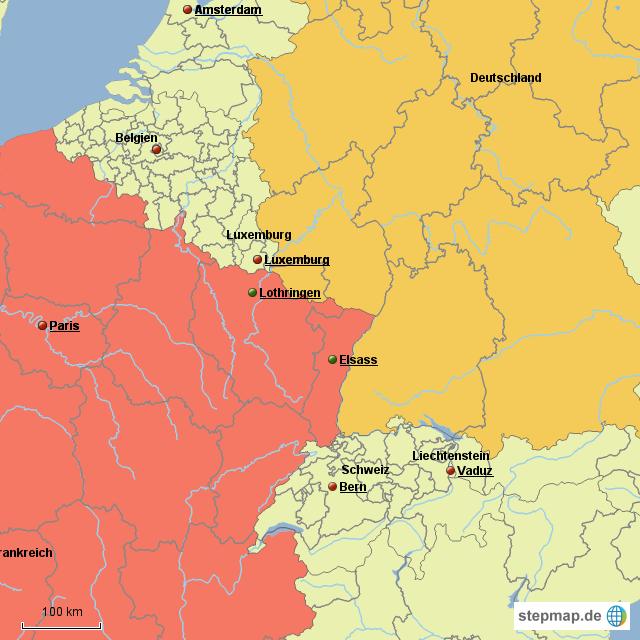 landkarte elsass deutschland StepMap   Elsass Lothringen   Landkarte für Deutschland