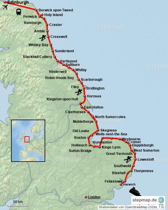 Dänemark Nordseeküste Karte.Stepmap Englische Nordseeküste Landkarte Für Großbritannien