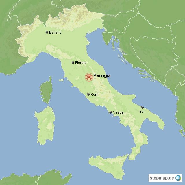 landkarte italien perugia StepMap   Erdbeben Italien   Landkarte für Italien