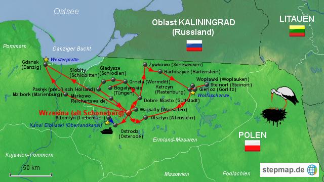 masuren landkarte StepMap   Ermland Masuren   Landkarte für Deutschland masuren landkarte