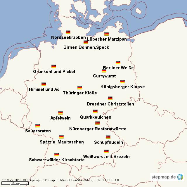Karte Essen.Stepmap Essen Landkarte Für Welt