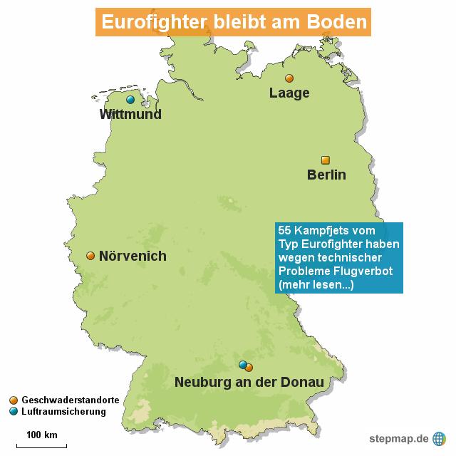 Eurofighter am boden von redaktion landkarte f r deutschland for Boden deutschland