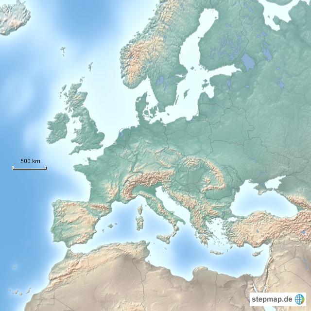 Kanaren Karte Europa.Stepmap Europa Kanaren Landkarte Fur Deutschland