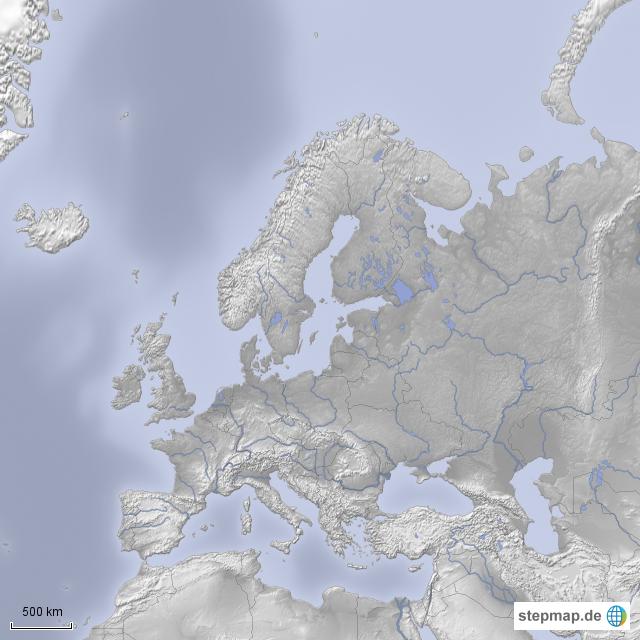 Stepmap Europa Ohne Beschriftung Landkarte Für Europa