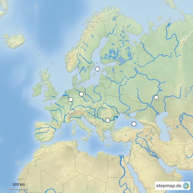 Stepmap Europa Stumme Karte Flüsse Meere Landkarte Für