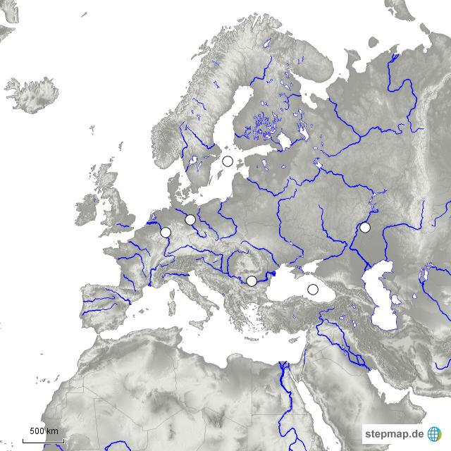 stepmap europa stumme karte fl sse meere 2 landkarte f r deutschland. Black Bedroom Furniture Sets. Home Design Ideas