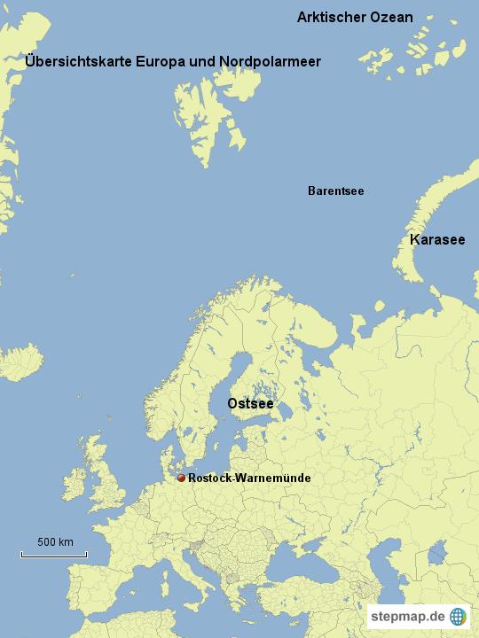Nordpolarmeer Karte.Stepmap Europa Und Nordpolarmeer Landkarte Für Deutschland