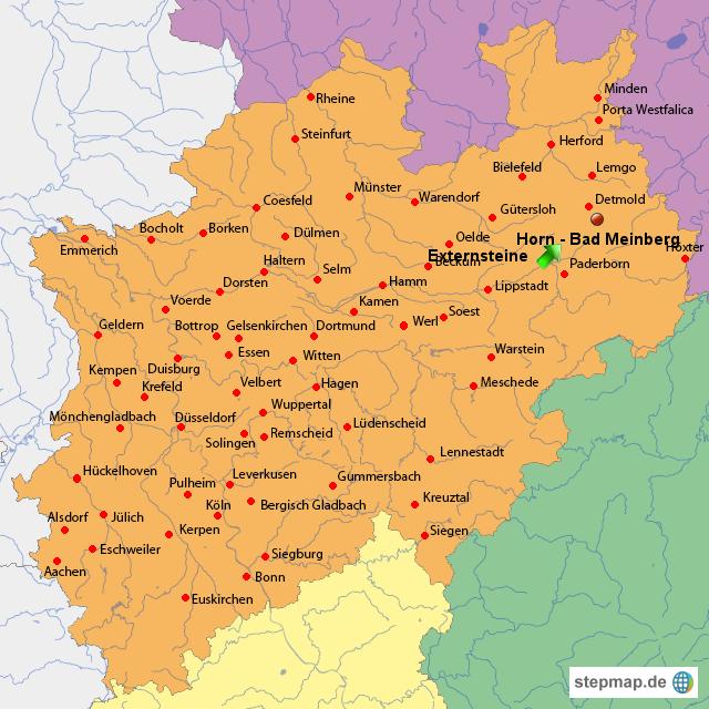 externsteine karte StepMap   Externsteine   Landkarte für Deutschland