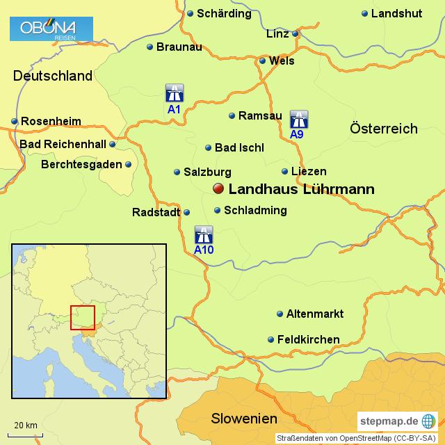 Stepmap Fkk Urlaub Landhaus Luhrmann Landkarte Fur Osterreich