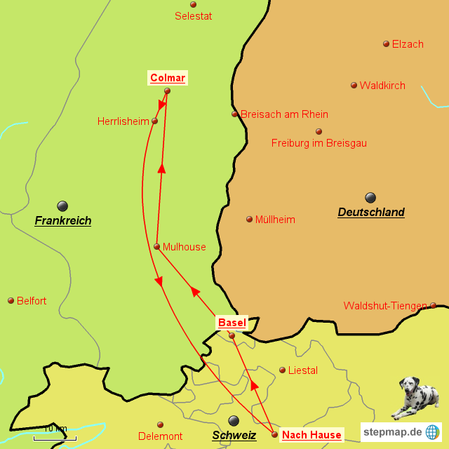Elsass Karte Colmar.Stepmap Fr Elsass Colmar Landkarte Für Frankreich