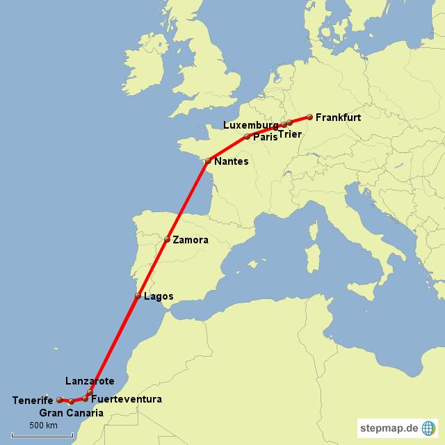 Stepmap Fra Kanaren Landkarte Für Deutschland