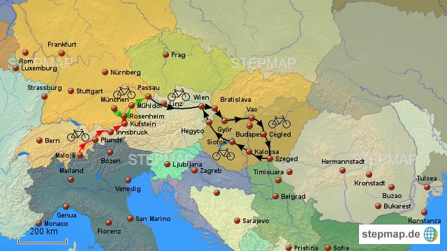 Fahrrad Karte.Stepmap Fahrrad Karte Landkarte Für Deutschland