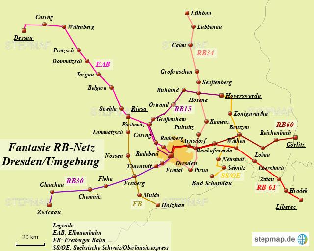 Karte Chemnitz Und Umgebung.Stepmap Fantasie Rb Netz Dresden Umgebung Landkarte Fur