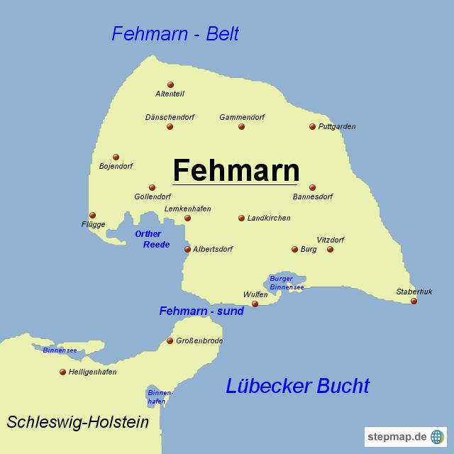 insel fehmarn karte Landkarte Insel Fehmarn | Karte
