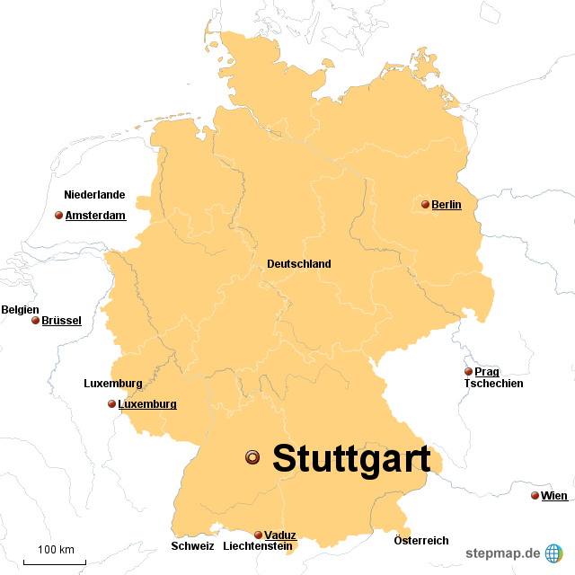 Stepmap Fernsehturm Stuttgart Landkarte Fur Deutschland