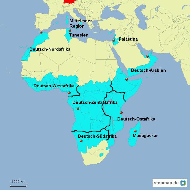 Stepmap Fiktive Deutsche Kolonien 1890 Landkarte Fur Afrika