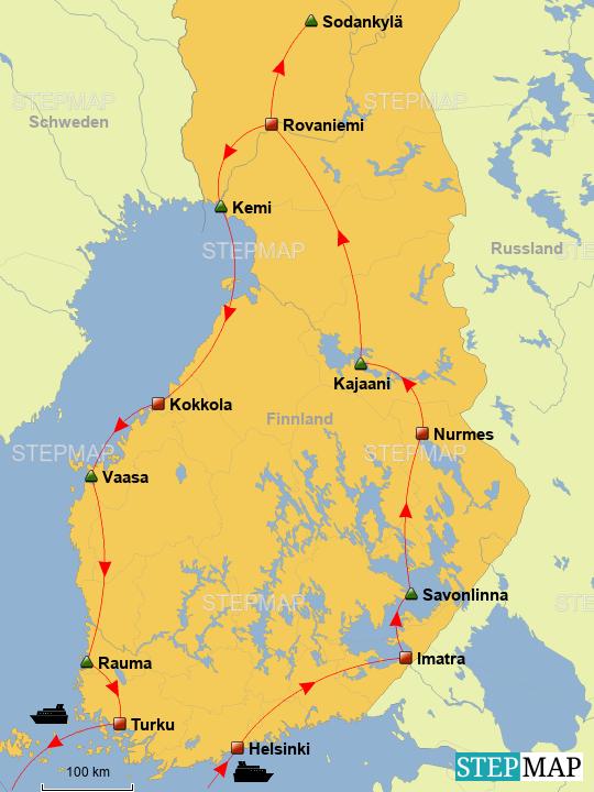 Lappland Karte.Stepmap Finnisch Lappland Landkarte Für Deutschland